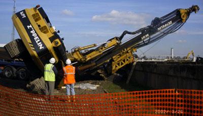 Pressure system failures,crane failures