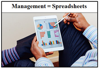 Management = Spreadsheets