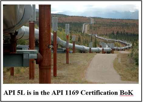 API 5L is in API 1169 Certification Bok