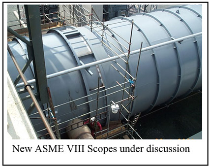New ASME VIII Scopes under discussion