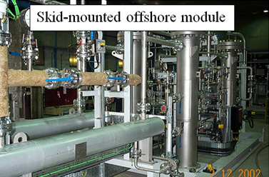 Skid mounted offshore module